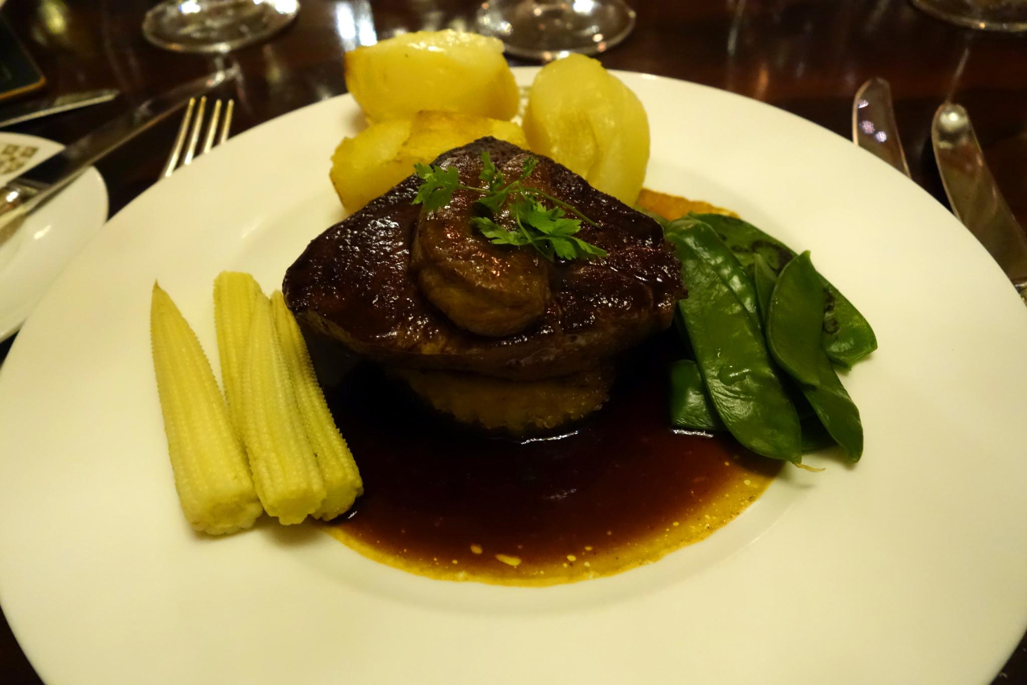 Oxford & Cambridge steak rossini